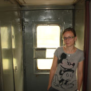 Wejście do łazienki Kolej Transsyberyjska