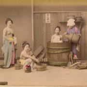 Японские бани в 18 веке